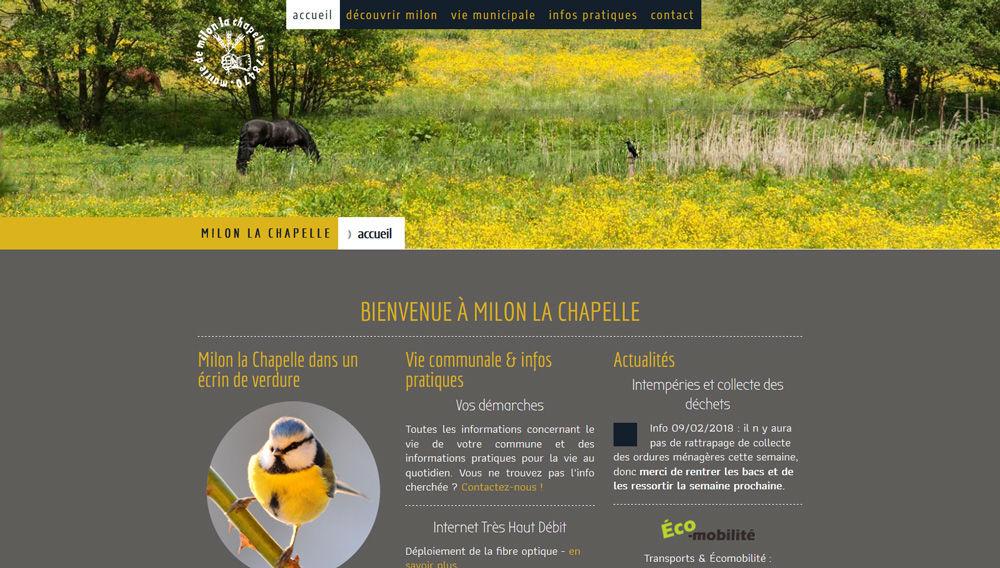 Site web pour une commune
