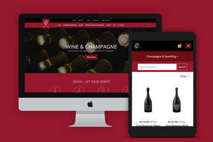 Wine e-commerce shop