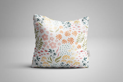 Mockup coussin floral