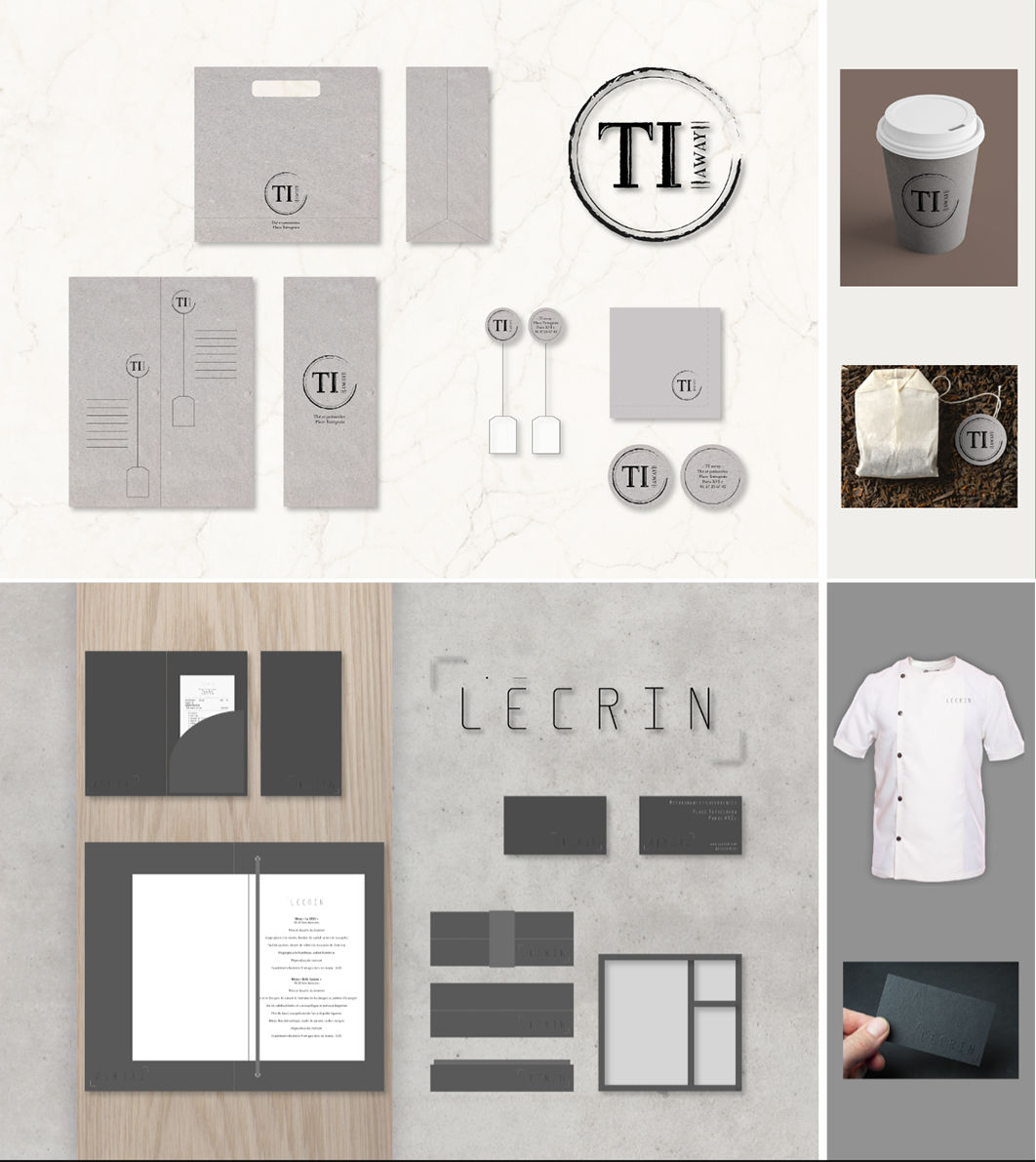 Ensemble Logo et print restauration