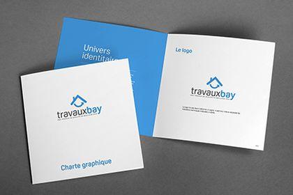 Logo et charte graphique de la startup Travauxbay