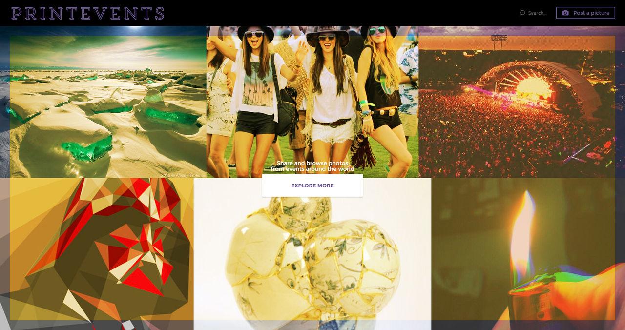 Webdesign d'un site d'évènements