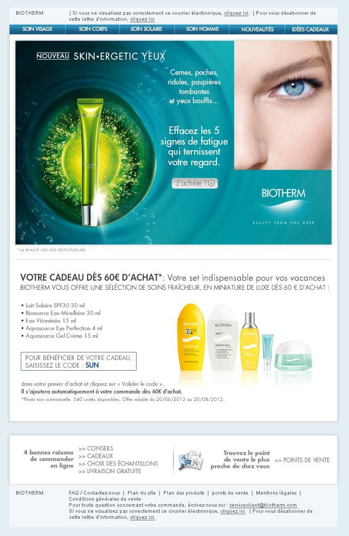 Biotherm Skin Ergetic Eye - Webdesign
