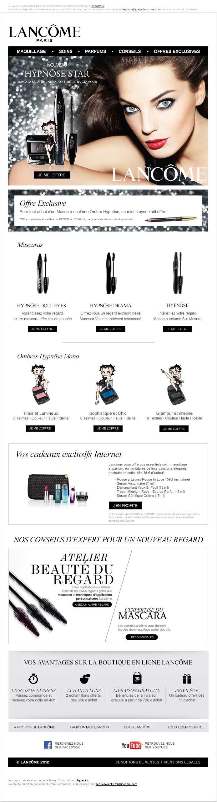 Lancôme Paris - Webdesign