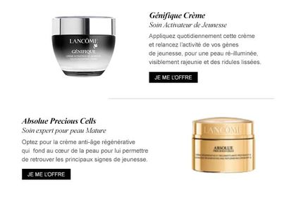 Lancôme Paris - Webdesign
