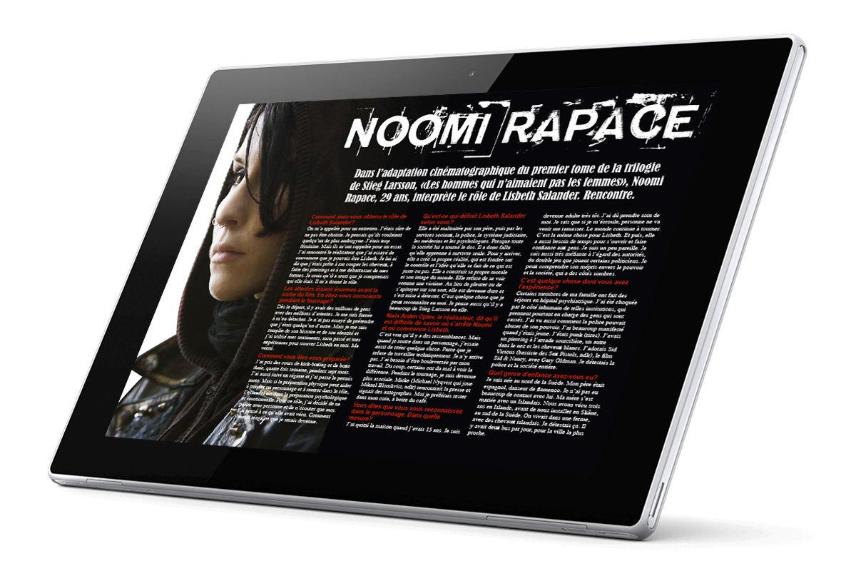 Noomi Rapace (Millenium article) - Mise en page
