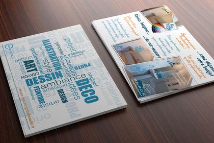 Flyer format carte postale pour une illustratrice