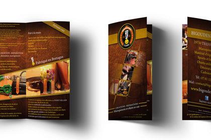 Brochure pour une créatrice d'objets en cuir
