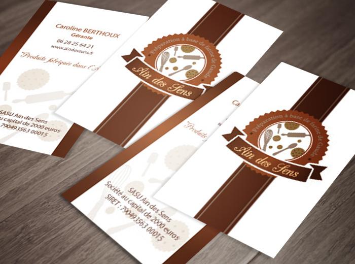 Carte de visite et logo Ain des Sens