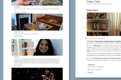 Gislaine Duboc, site web
