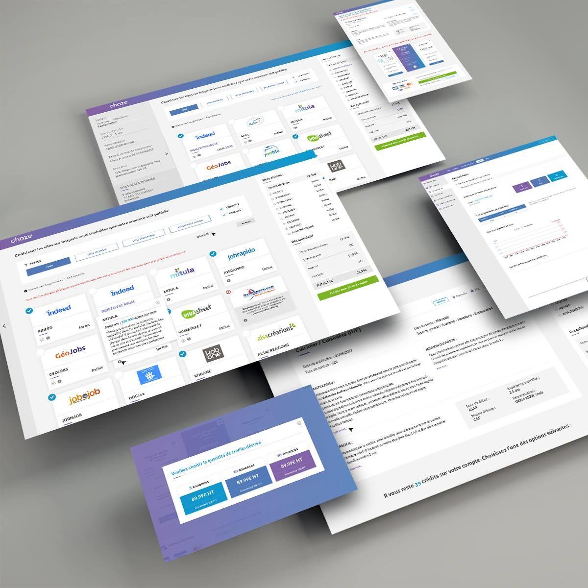 Interfaces design - Chaze
