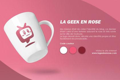 Logo la Geek en Rose