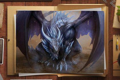 Illustration Dragon Bleu