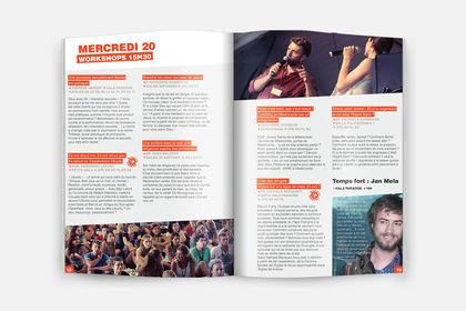 Pages internes d'un livret de festival