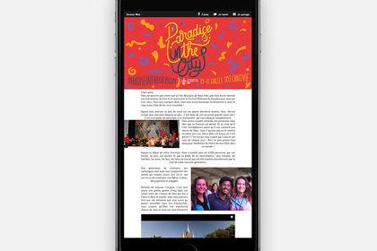 Newsletter pour un festival