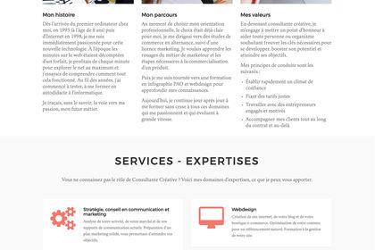 Webdesign du site vitrine Marie Roé