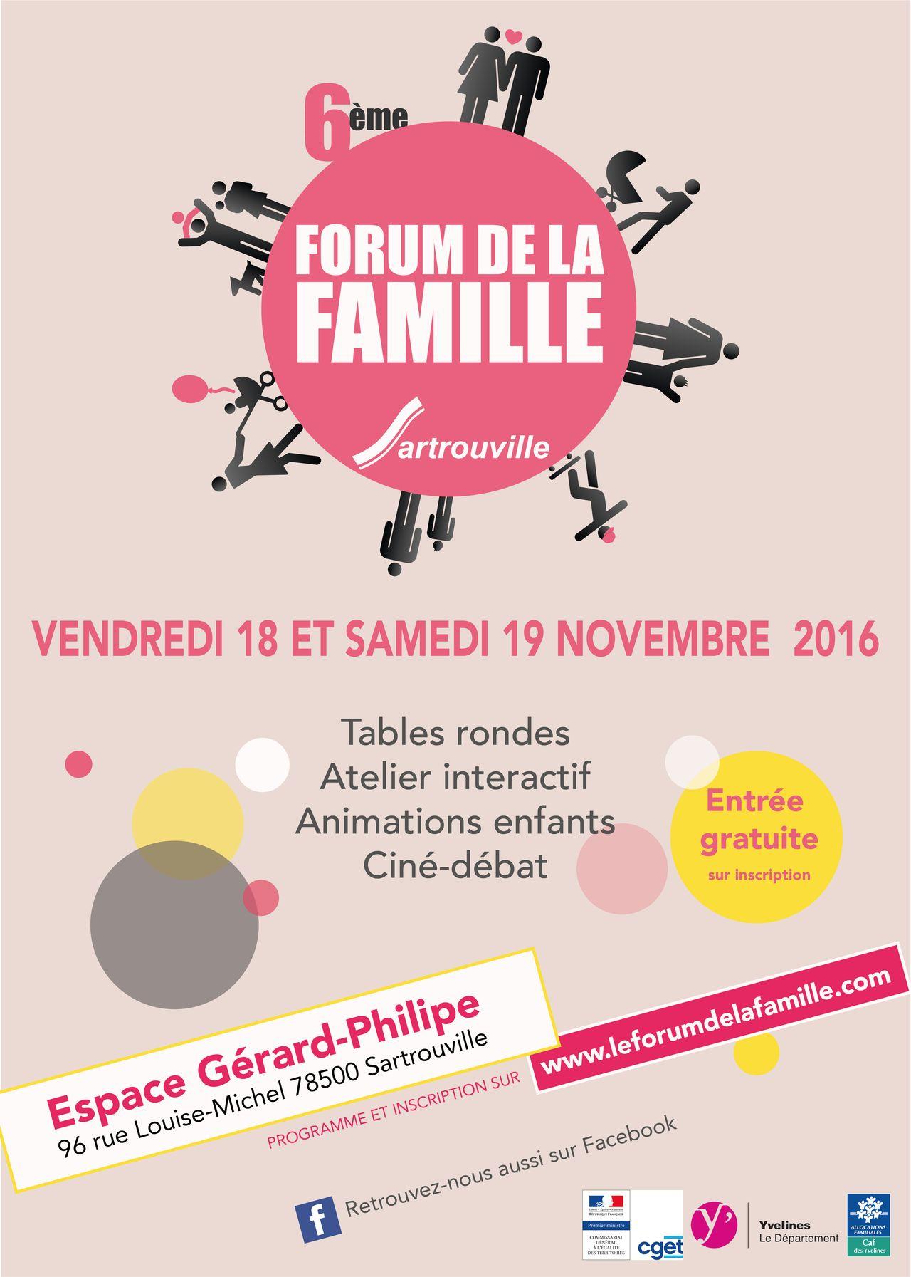 Charte graphique Forum de la famille. Sartrouville
