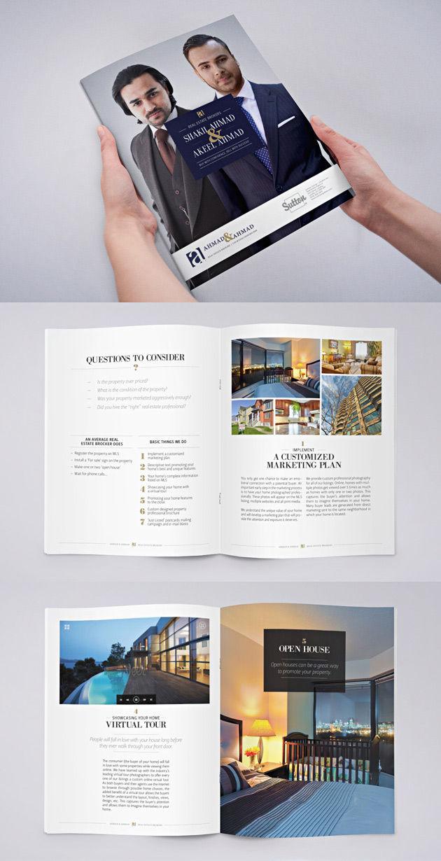 Brochure pour agence immobilière