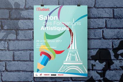 Affiche salon des formations artistiques