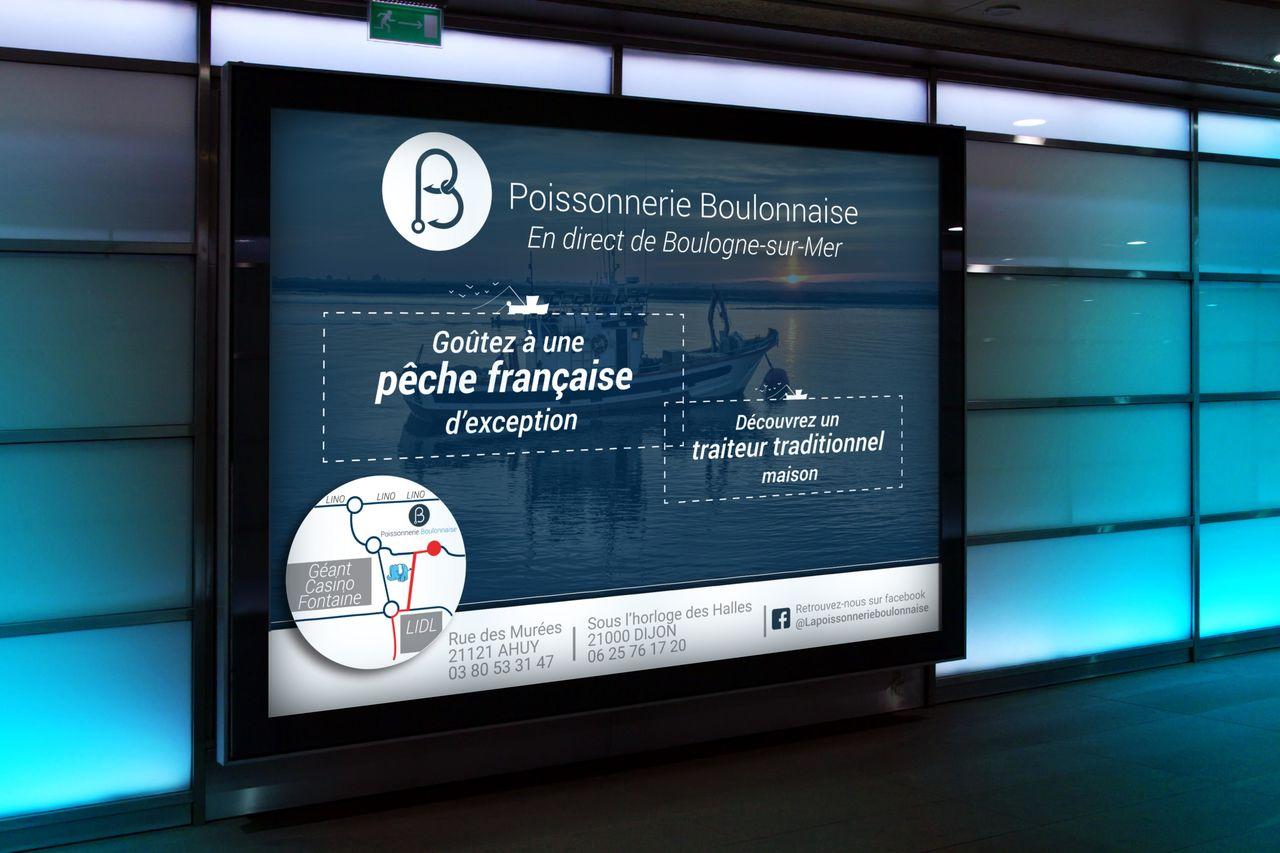 Affiche 4*3 – Poissonnerie Boulonnaise