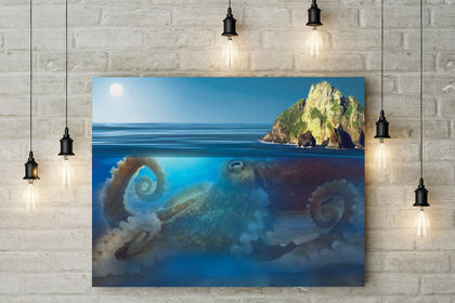 """Matte Painting """"Poulp'island"""""""