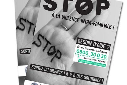 """Flyer """"Stop à la violence intra-familiale"""""""