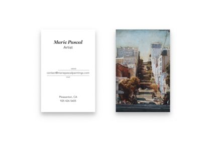 Cartes de visite Marie Pascal
