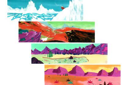 Epileptic Mountains - Concept art (gouache)