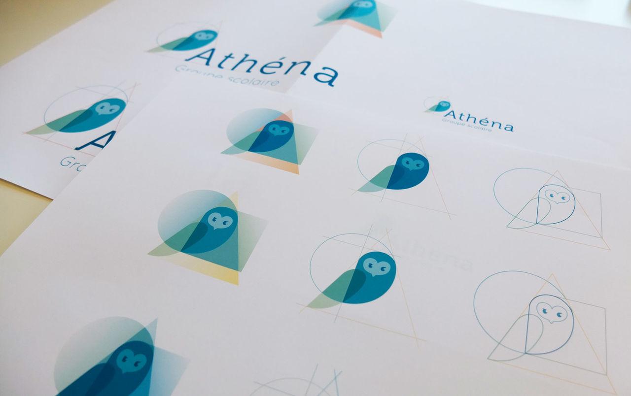 Identité visuelle du groupe scolaire Athena