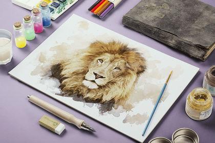 Création d'une aquarelle en digital painting