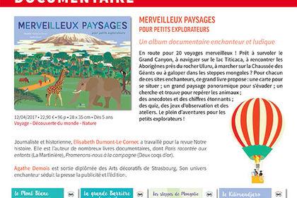 Programme de parutions pour les éditions BELIN