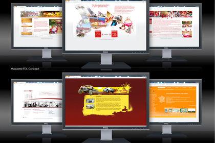 Diverses maquettes web