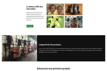 Web Design Association Parfumeurs Sans Frontières