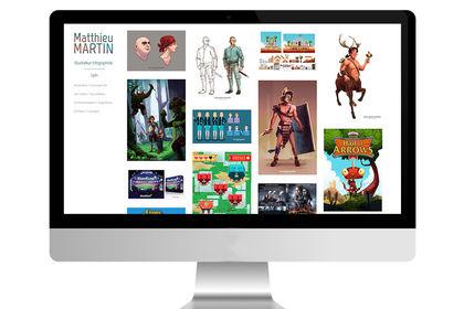 Création de site pour un illustrateur