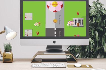 Parcours du Camélia à Mazamet // Design interface