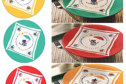 Projet visuels pour assiettes porcelaine