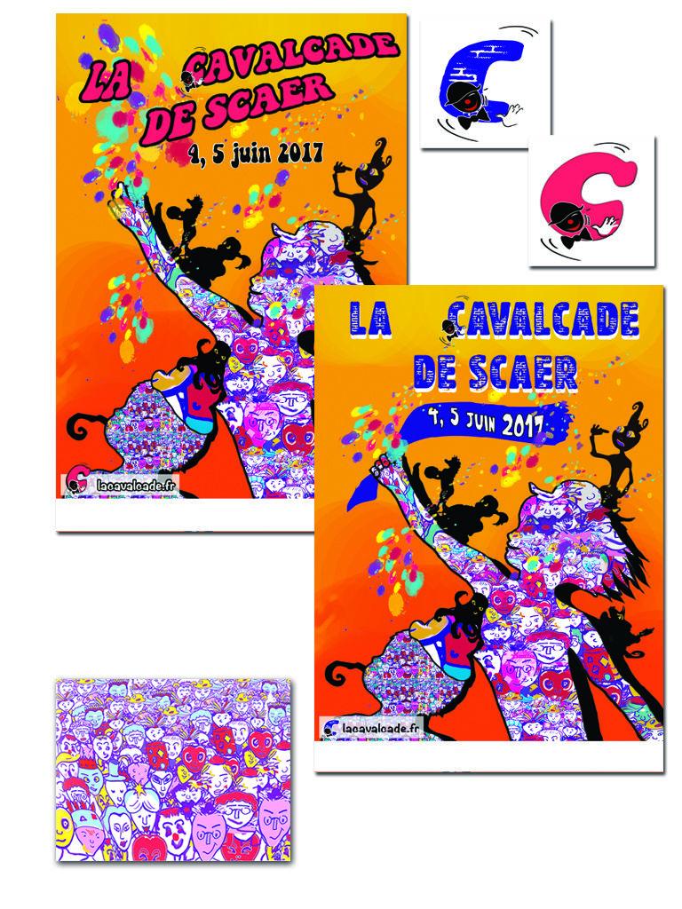 Affiche et logo pour carnaval - variantes