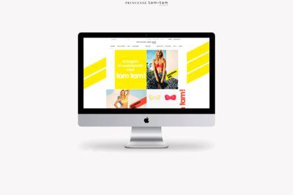 Design de la home page