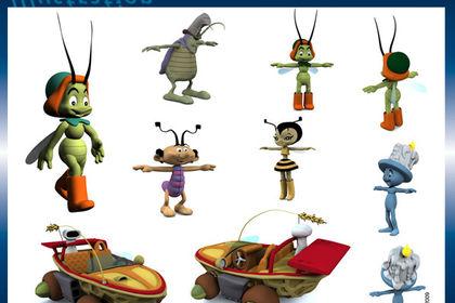 Modélisation 3D de personnages de BD