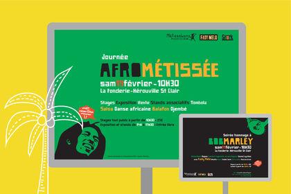 Affiche soirée hommage à Bob Marley