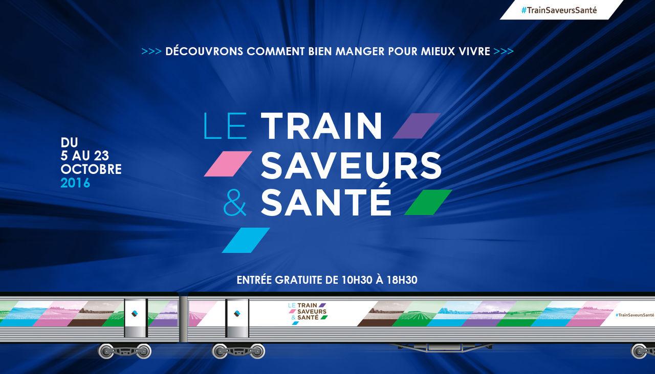 """""""Train saveurs et santé"""" Train expo évènement SNCF"""