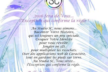 """Carte de voeux 2016 """"Studio Communication SC"""""""