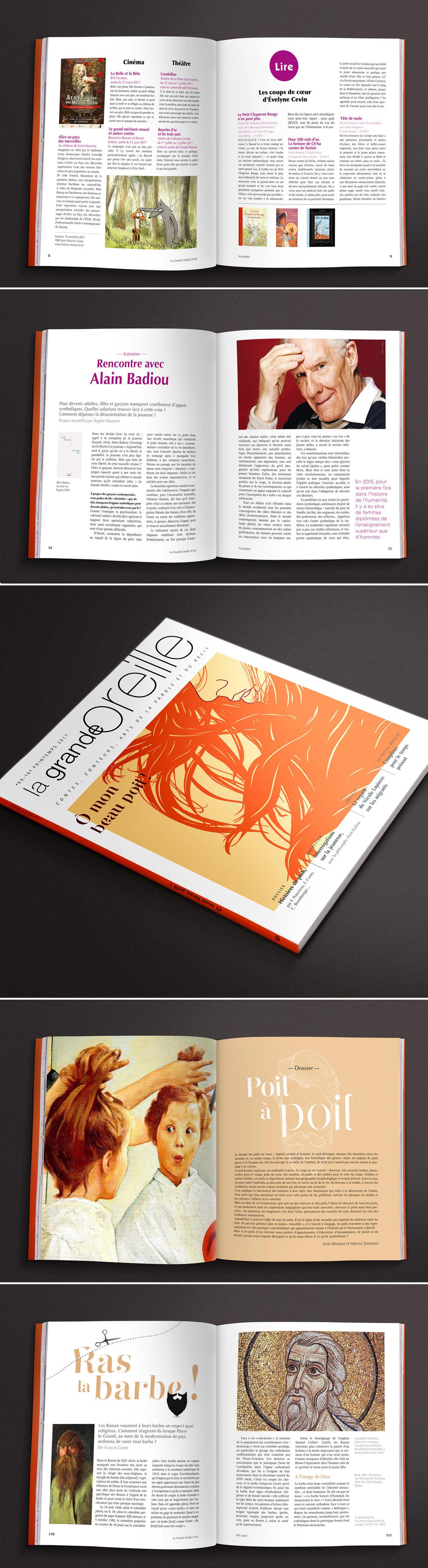 Charte graphique : magazine La Grande Oreille