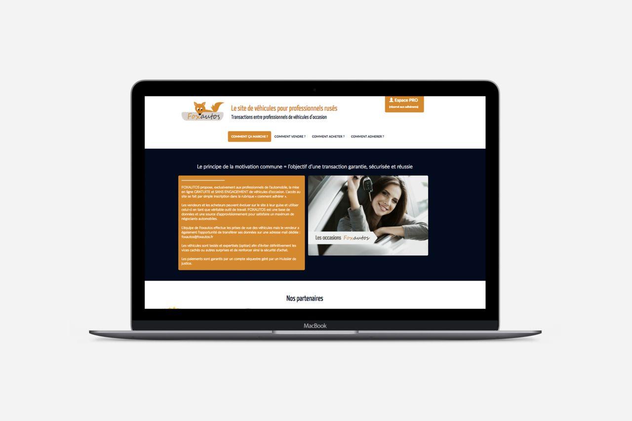 Foxautos site internet