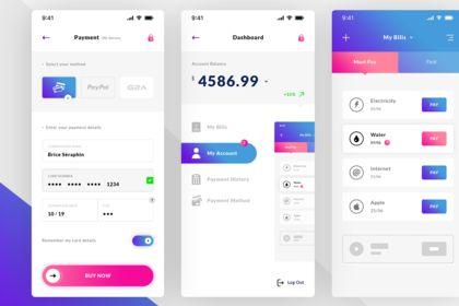 UI - UX Finance. IOS App