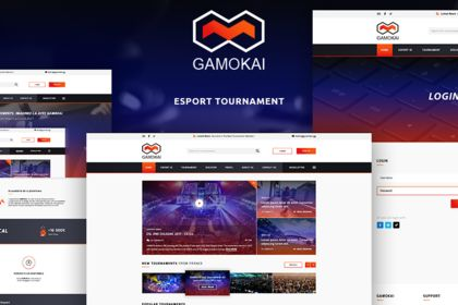 Gamokai. Games Tournaments Website