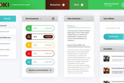 Dashboard App. Koki