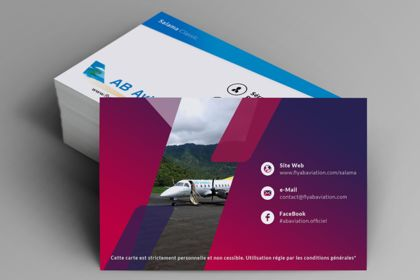AB AVIATION. Loyalty Business Card