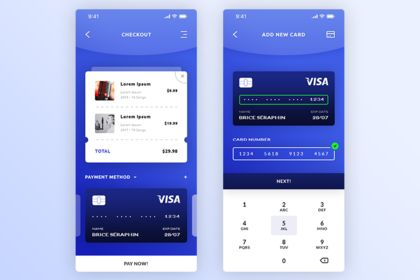 Checkout & Add New Card. IOS App