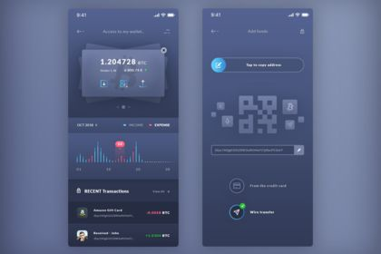 Finance. Wallet & Add Funds. IOS App